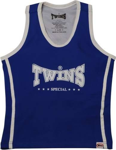 Twins Top Lady Top / Girl Top / Damen Tanktop blau/weiss Gr.S – Bild 1