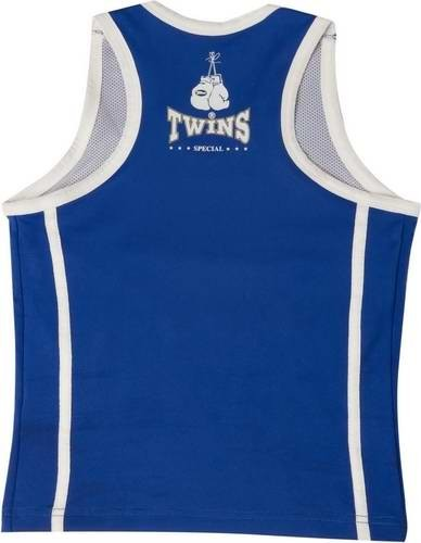 Twins Top Lady Top / Girl Top / Damen Tanktop blau/weiss Gr.S – Bild 2