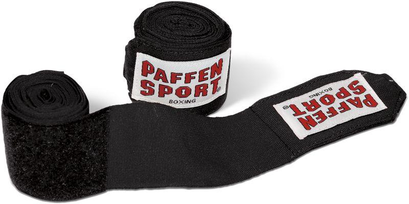 Paffen-Sport vendajes de boxeo negro 4,5m AIBA-/DBV estándar