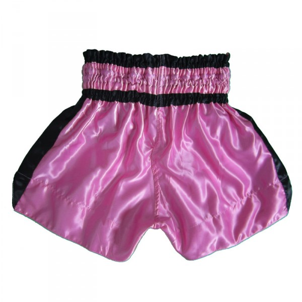 4Fighter Muay Thai Shorts Classic pink-black with 4Fighter Tribal Logo on leg – image 2