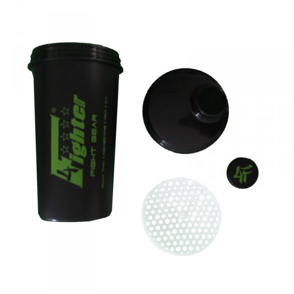 4 Fighter Shaker 4FShaker in black with stylish logo in green, 700ml – image 2