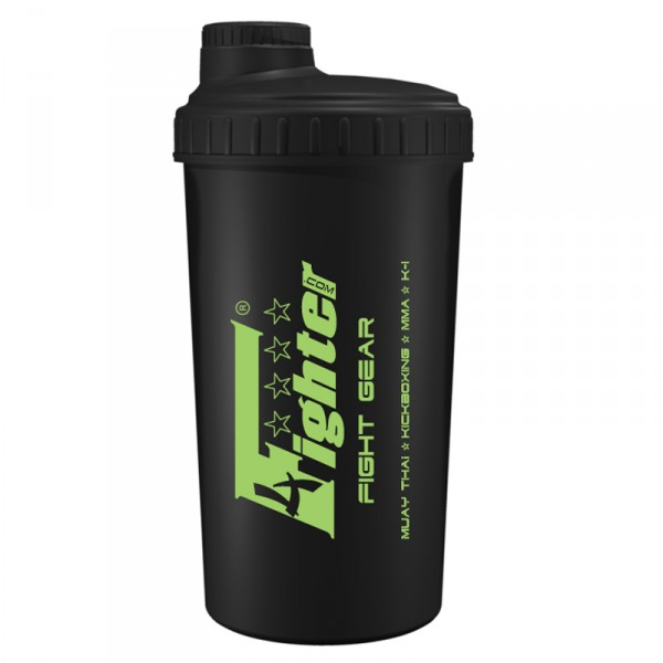 4 Fighter Shaker 4FShaker in black with stylish logo in green, 700ml – image 1