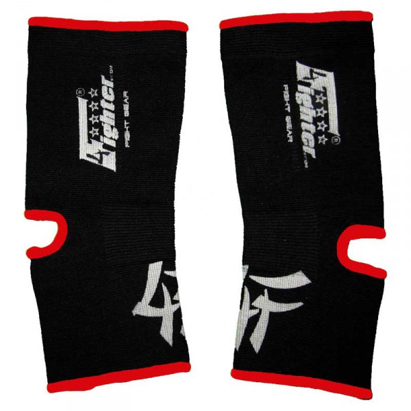 4FIGHTER ankle guards / ankle support black with red Outlines – image 1