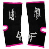 4FIGHTER ankle guards / ankle support black with pink Outlines