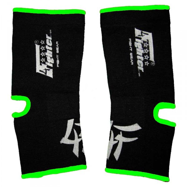 4FIGHTER ankle guards / ankle support black with neongreen Outlines – image 1
