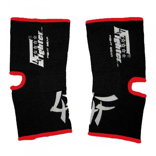 4FIGHTER KIDS ankle guards / ankle support 4FAG black with red outlines – image 1