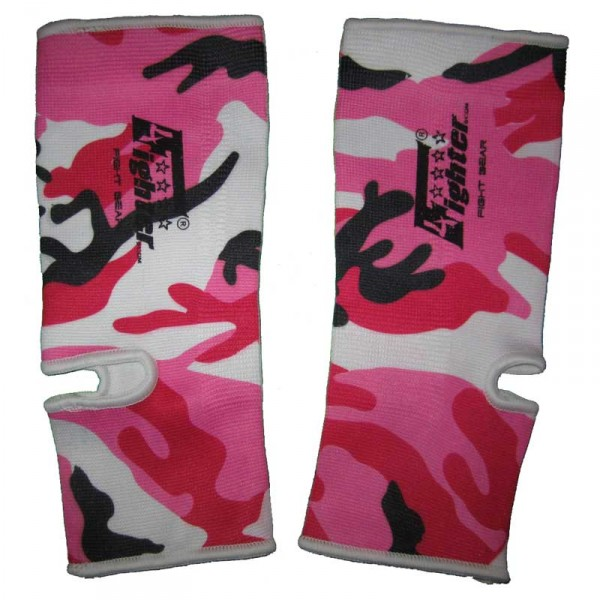 4FIGHTER ankle guards / ankle support Camouflage pink-white-black