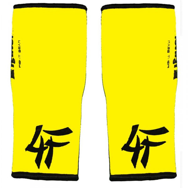 4FIGHTER ankle guards / ankle support yellow with black Outlines – image 2