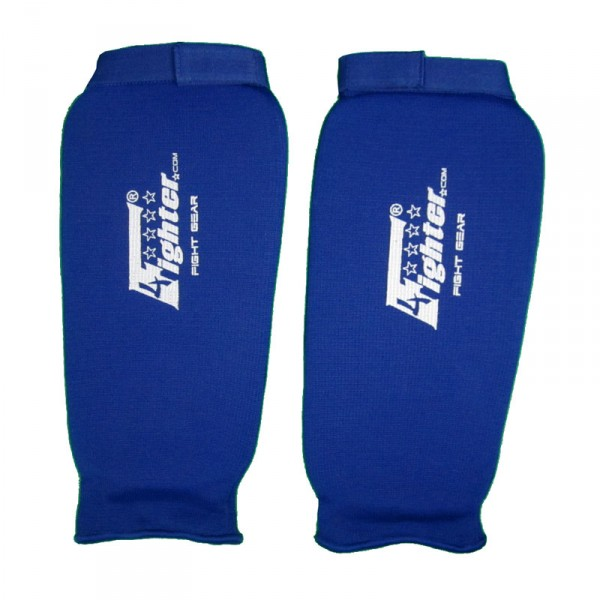 4Fighter PRO Shinguard without instep protection elastic blue – image 1