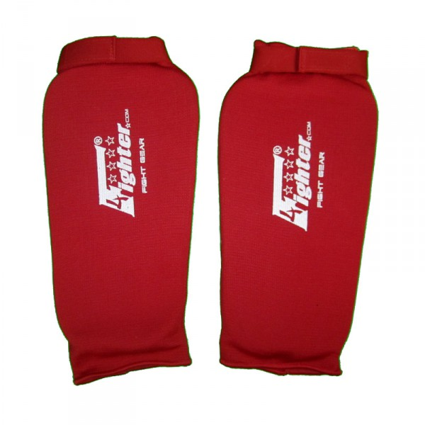 4Fighter PRO Shinguard without protection of instep elastic red – image 1