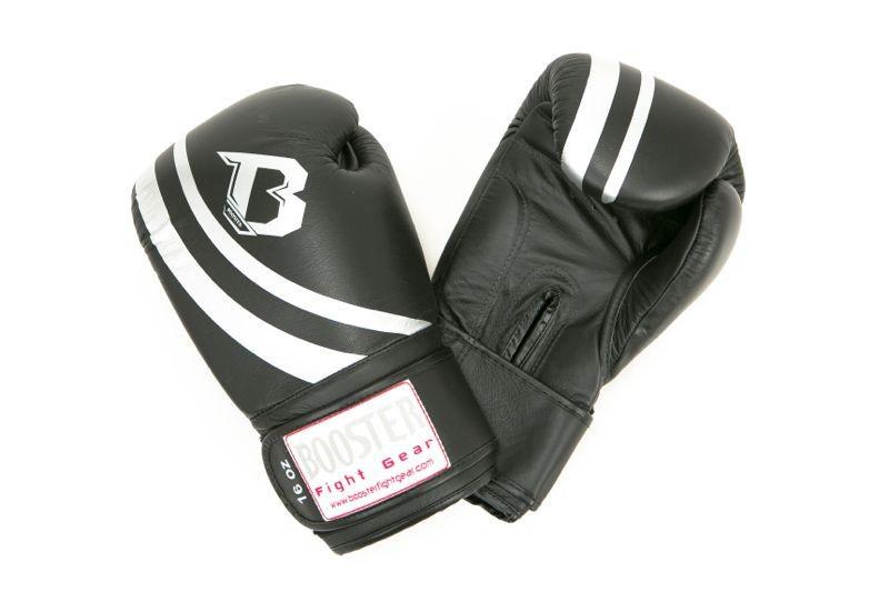Booster Pro Range Schwarze Boxhandschuhe BGL Schwarz V2 Leder
