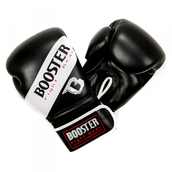 Booster Boxhandschuhe BT SPARRING schwarz/weiß Kunstleder