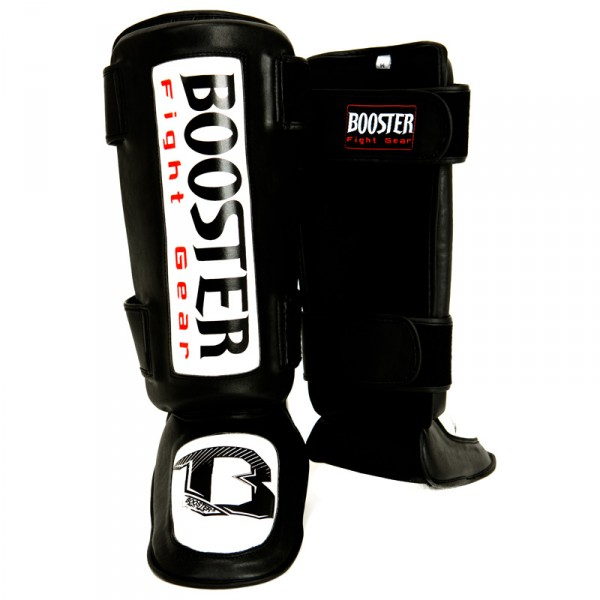 Booster Thai Striker Foot and Shin Guards black-white – image 1