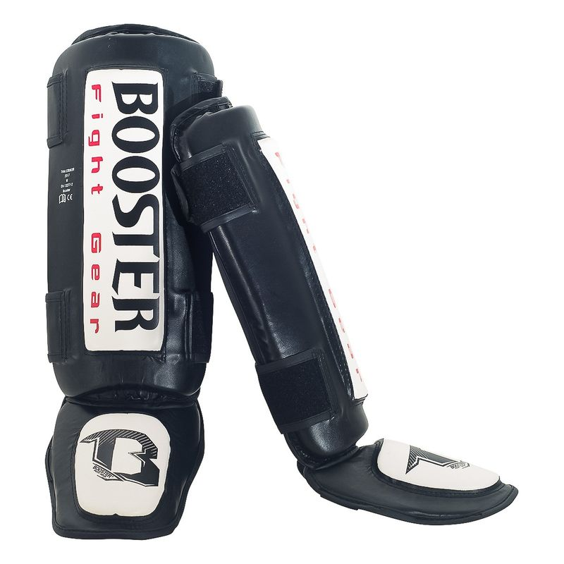 Booster Thai Striker Foot and Shin Guards black-white – image 2