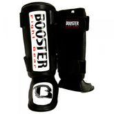Booster Espinilleras Thai Striker negro-blanco