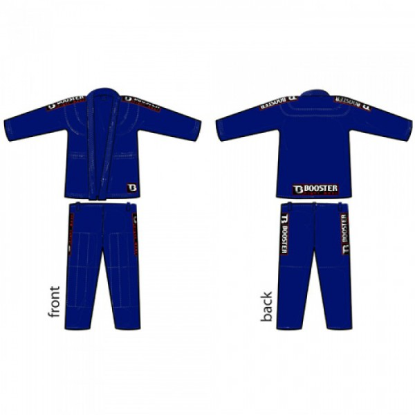 Booster PRO Light Dark Blue Jiu Jitsu Suit – image 3