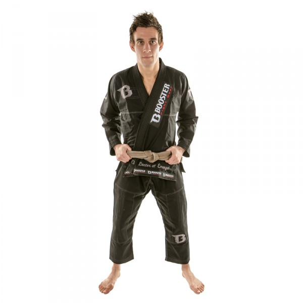 Booster PRO Light black-silver Jiu Jitsu Suit – image 1