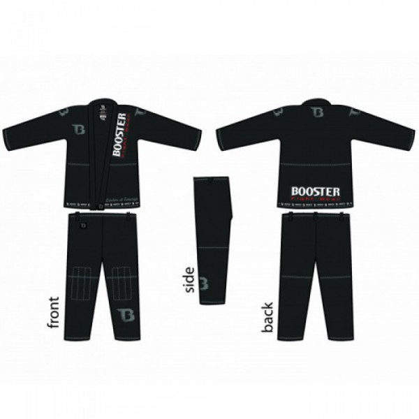 Booster PRO Light black-silver Jiu Jitsu Suit – image 3