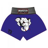 Booster Trunks / Kick- Thaiboxing Shorts TBT-18 blue with an elephant