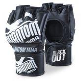 "Phantom MMA Handschuhe ""Blackout"" schwarz/weiß Kunstleder IMMAF Edition"