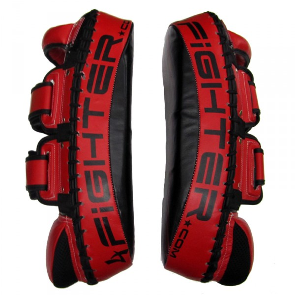 4Fighter Thai PAO  Kick Pad Muaythai Kickpads - Leather black-red