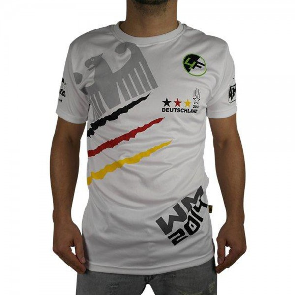 "4Fighter  ""GERMANY"" Men / Boy T-Shirt white in the design of national tricots – image 1"