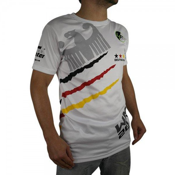 "4Fighter  ""GERMANY"" Men / Boy T-Shirt white in the design of national tricots – image 2"