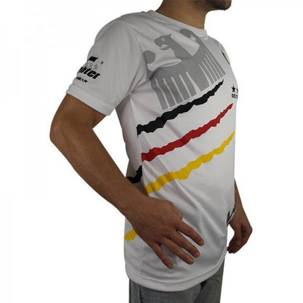 4Fighter Deutschland Herren / Kinder T-Shirt weiß im Design des Nationaltrikots – Bild 5