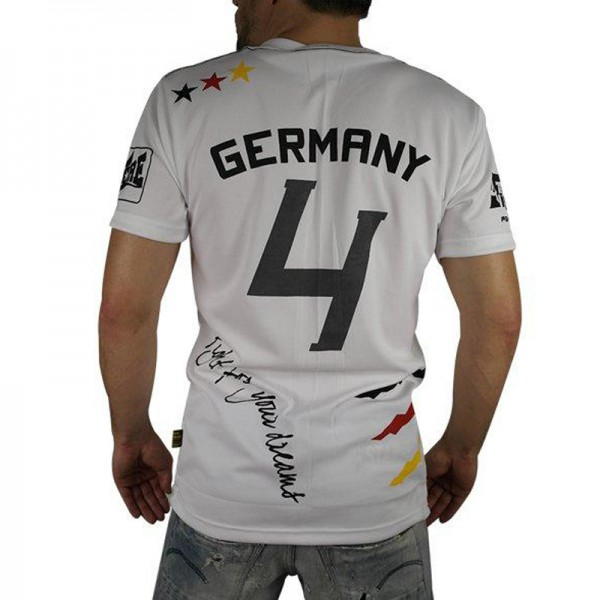 "4Fighter  ""GERMANY"" Men / Boy T-Shirt white in the design of national tricots – image 3"