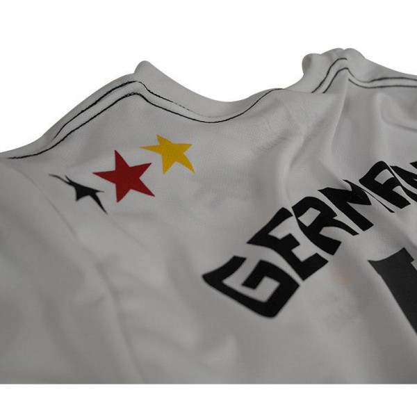 4Fighter Deutschland Herren / Kinder T-Shirt weiß im Design des Nationaltrikots – Bild 10
