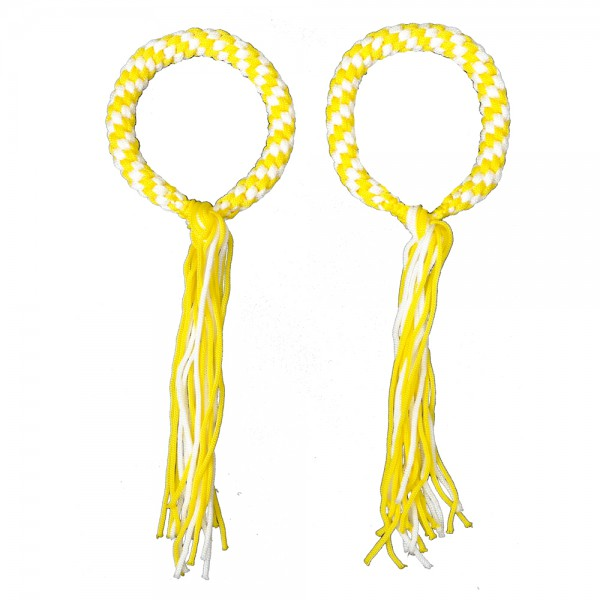 Prajead - traditional Muay Thai martial jewelry 3.Khan yellow-white