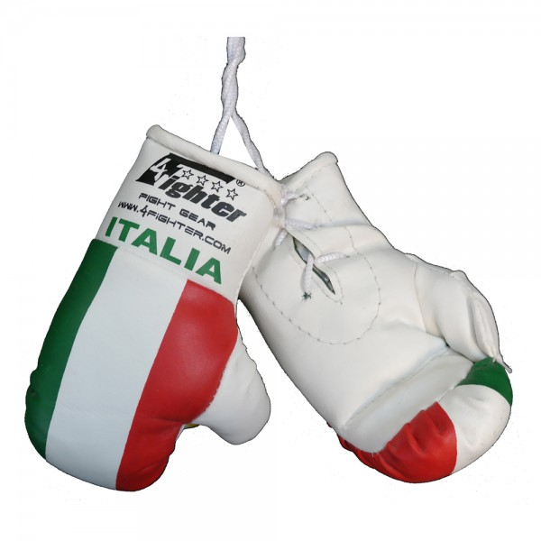 4Fighter Mini boxing gloves Italy in white with national flag and Italia lettering – image 2
