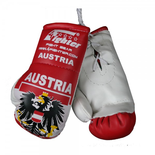 4Fighter Mini boxing gloves Austria with national flag, coat of arms and lettering – image 1