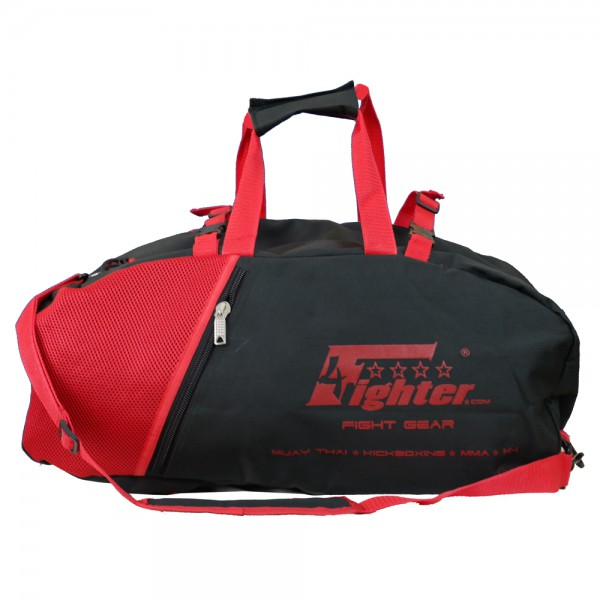 4Fighter black-red mesh gym bag with backpack / Duffel Bag + Backpack – image 3