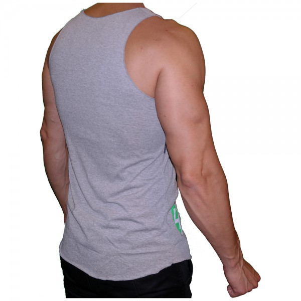 4Fighter T-shirt Muscle shirt Tanktop grey with 4Fighter printing S-XXL – image 4
