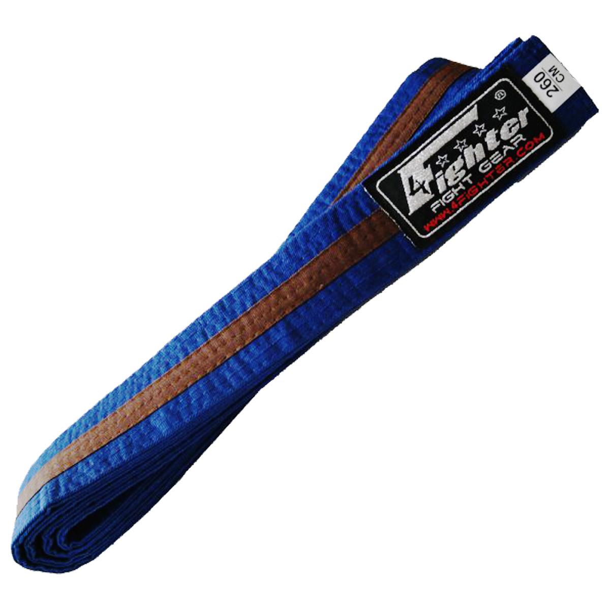 4Fighter Karate Gürtel in blau-braun 260cm