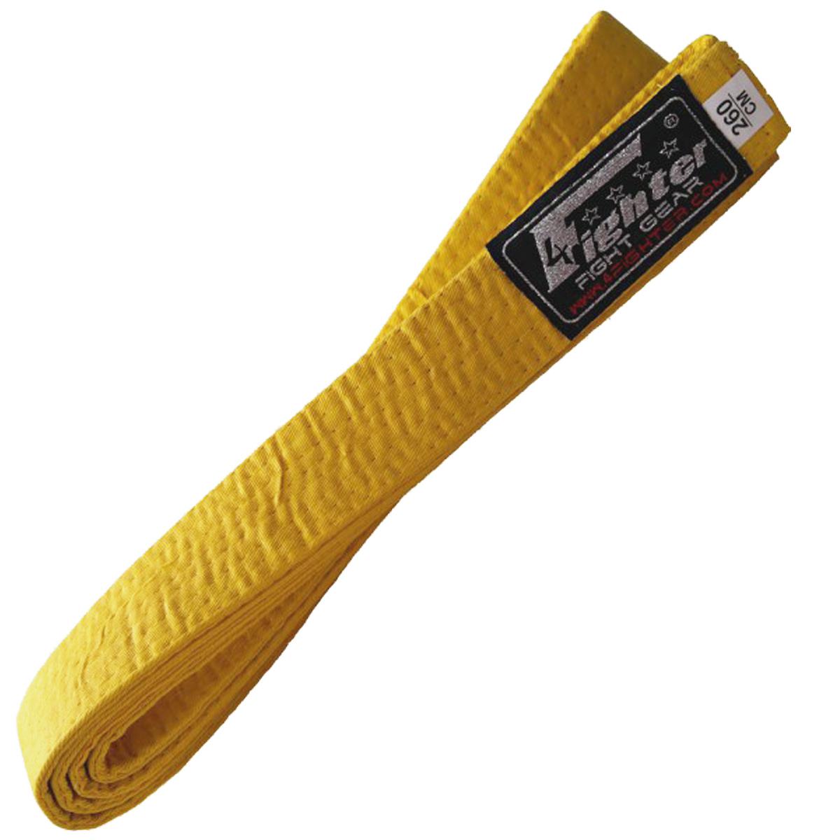 4Fighter Karate Gürtel in gelb 260 cm