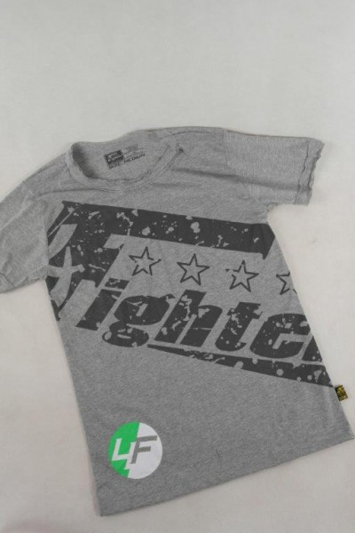 4Fighter T-shirt Vintage sin mangas gris con la impresión 4Fighter S-XXL – Bild 1