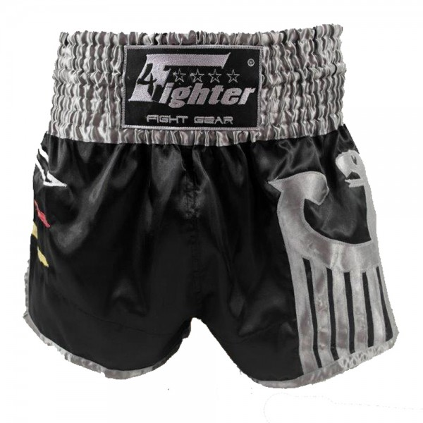 4Fighter Muay Thai Shorts National Deutschland in coolem, schwarzen WM Trikot-Design XS-XXXL – Bild 1