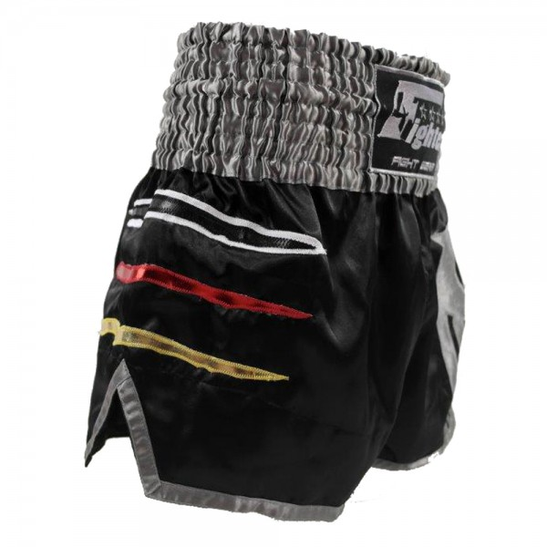 4Fighter Muay Thai Shorts National Deutschland in coolem, schwarzen Germany Design – Bild 2