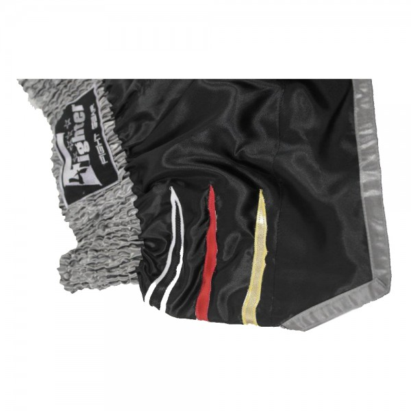 4Fighter Muay Thai Shorts National Deutschland in coolem, schwarzen Germany Design – Bild 6