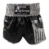 4Fighter Muay Thai Shorts National Deutschland in coolem, schwarzen Germany Design