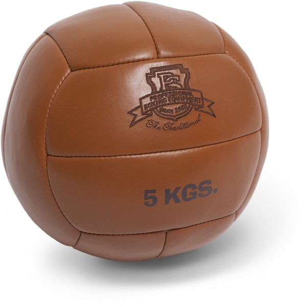 Paffen-Sport The Traditional Leder-Medizinball 5,0kg in braun