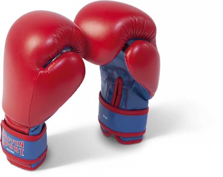 Paffen-Sport Kids Boxing Gloves for training in red / blue 6oz - 8oz