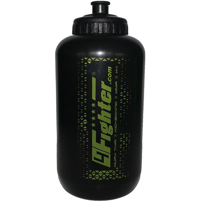 4Fighter Boxing Bottle schwarz-grün 1 Liter Trinkflasche mit Halm – Bild 3