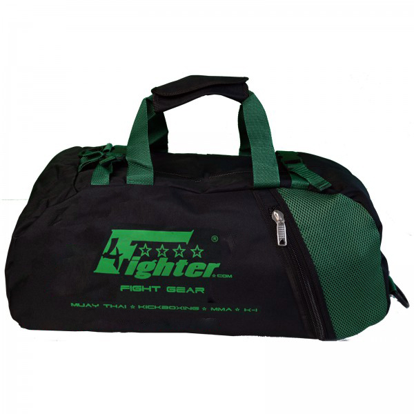 4Fighter mesh gym bag S / Duffelbag for Kids with backpack black-neongreen – image 1
