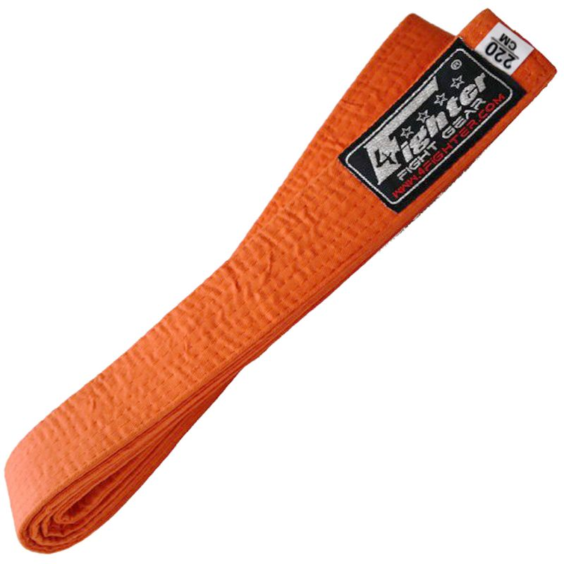 4Fighter Karate Gürtel in orange 220cm für Kinder