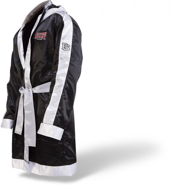 Paffen-Sport Boxing Robe with Hood black/white – image 1