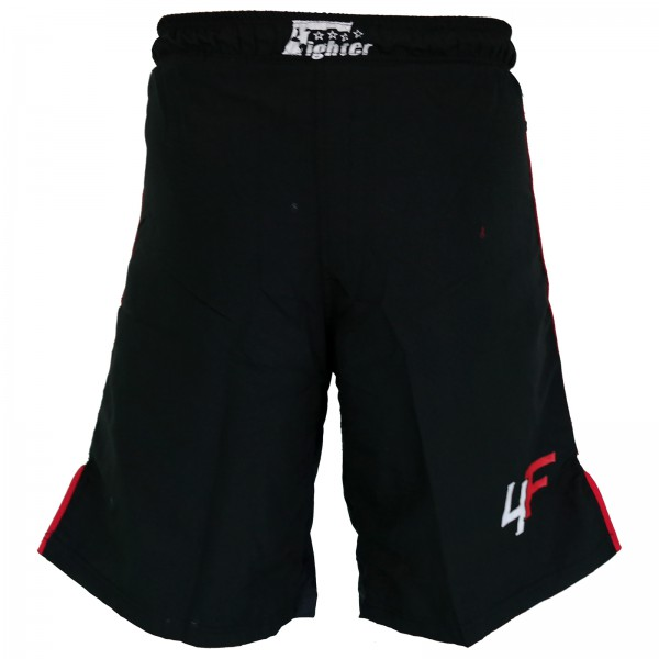 4Fighter Freefight / MMA / UFC Shorts Grappling Hose schwarz-rot XS - XXXL – Bild 2