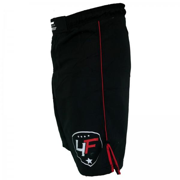 4Fighter Lucha Libre / MMA / UFC Grappling Shorts Pantalones Negro-Rojo XS - XXXL – Bild 3